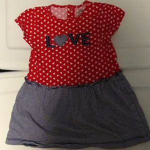 Carter's Child Of Mine 'LOVE' Dress Size 18m